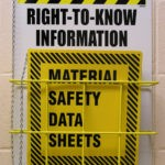 MSDS Yellow black Bright Sign